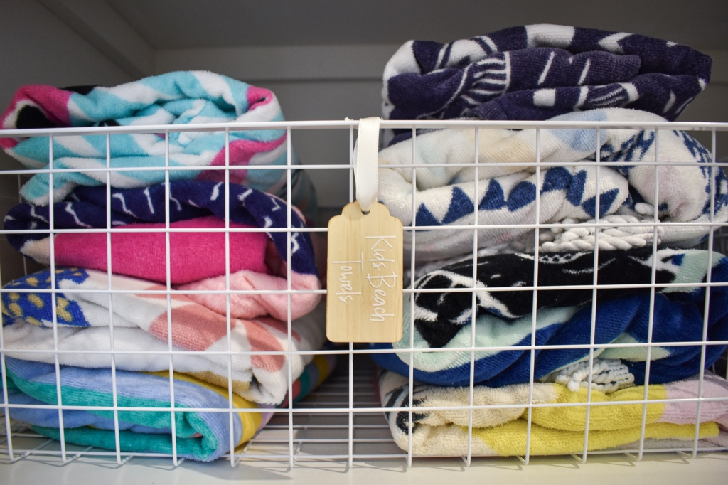 Storing towels